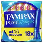 Tampax Compak Pearl Regular Applicator Tampons 18ct