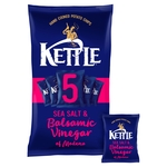 Kettle Chips Sea Salt & Balsamic Vinegar Multipack Crisps