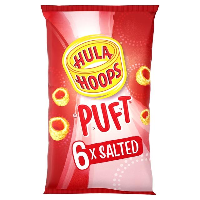 Hula Hoops Puft Salted Multipack Crisps 6 Pack