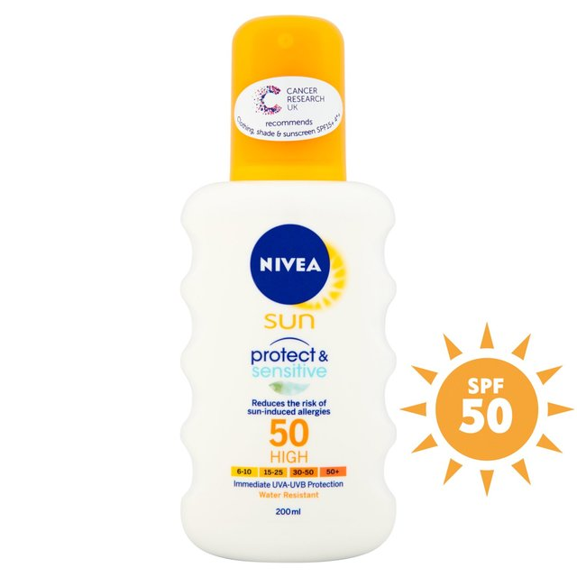 nivea sun spray factor 50