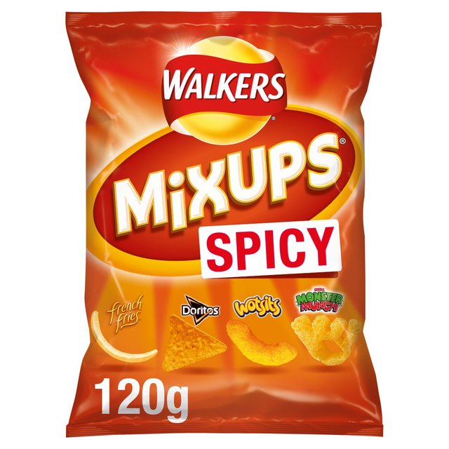 Morrisons walkers mixups snacks mix spicy 120g product information
