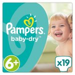 Pampers Baby Dry Size 6+ Nappies Carry Packs