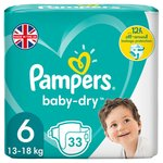 Pampers Baby-Dry Size 6 Nappies, 13-18kg, Breathable Dryness