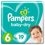 Pampers Baby Dry Size 6 Nappies Carry Packs