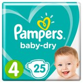Pampers Baby Dry Size 4 Nappies Carry Packs