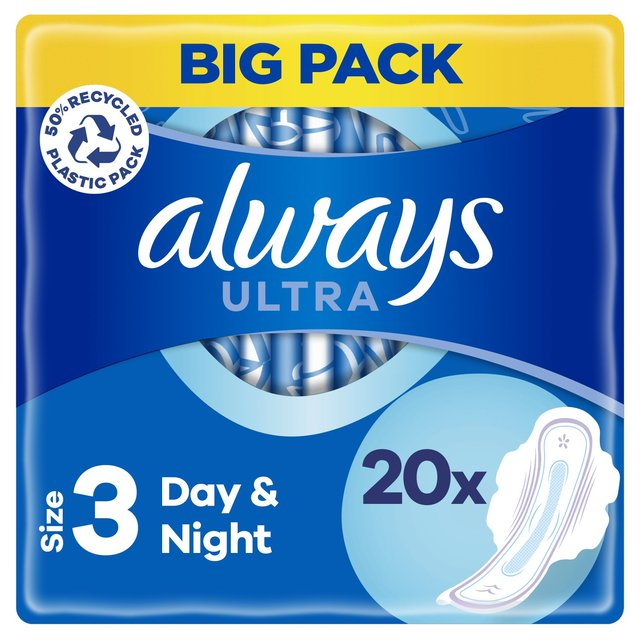 Always Ultra Night (Size 3) Sanitary Towels Wings