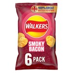 Walkers Smoky Bacon Crisps 6x25g