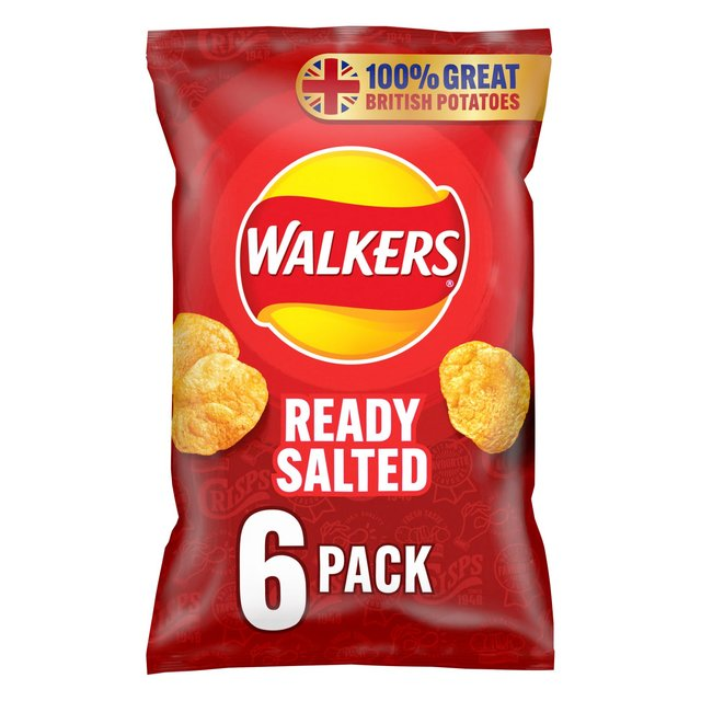 Walkers Ready Salted Multipack Crisps