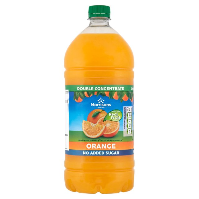 Morrisons Orange Squash No Added Sugar Double Concentrated