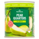 Morrisons Pear Quarters In Juice (220g)