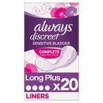 Always Discreet Incontinence Liners Long For Sensitive Bladder 20 pack