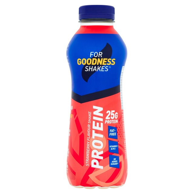 For Goodness Shakes Strawberry Protein Drink