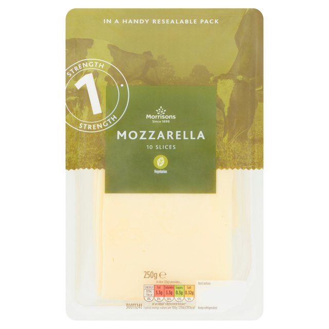 Morrisons 10 Slices Mozarella