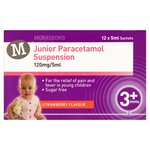 Morrisons Junior Paracetamol Suspension Sachets