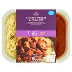 Morrisons Chicken Madras & Pilau Rice