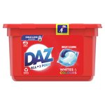 Daz 3in1 Pods Whites & Colours Washing Liquid Capsules 12 Washes
