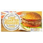 Morrisons 4 Beef Quarter Pounders with Cheese