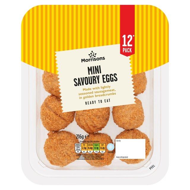 Morrisons Mini Savoury Scotch Eggs 12 Pack