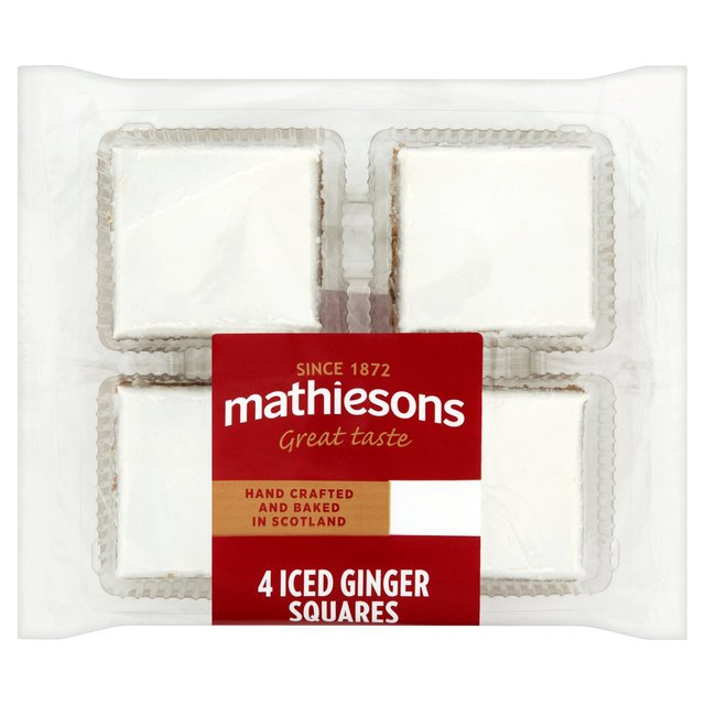 Morrisons: Mathiesons Iced Ginger Squares 4 per pack(Product ...