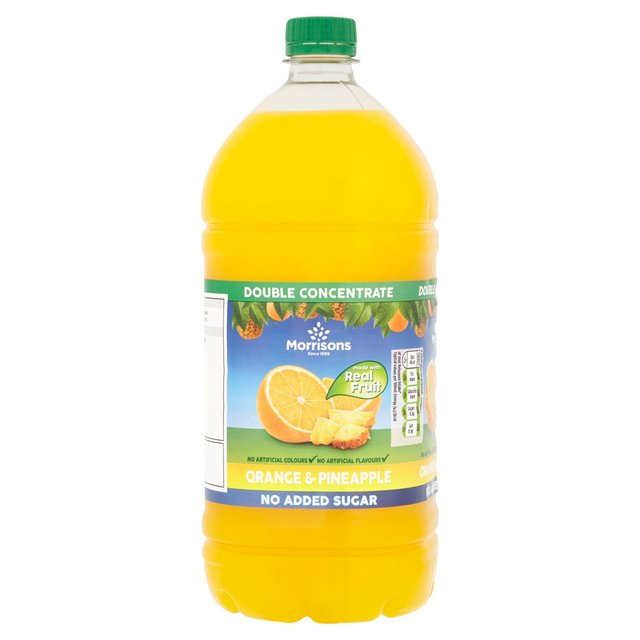 Morrisons No Added Sugar Orange & Pineapple Double Concentrate Squash