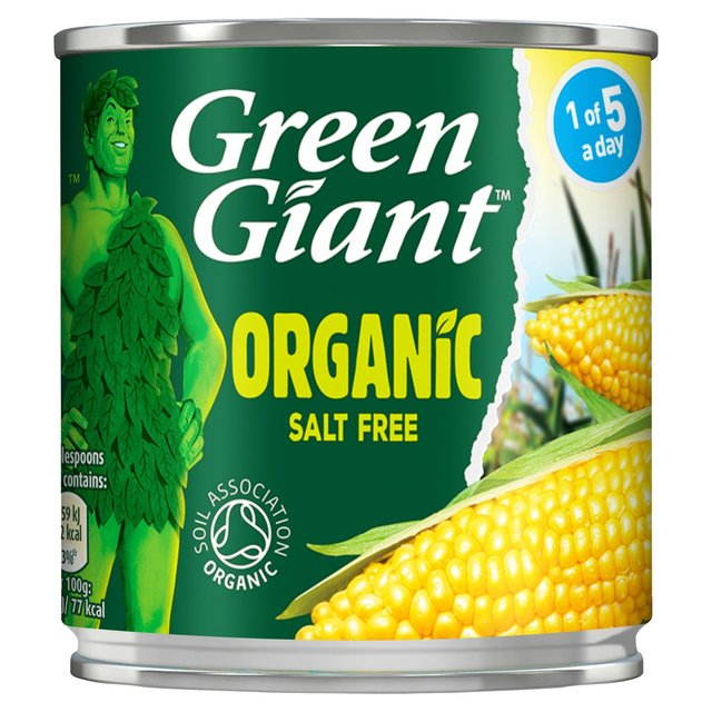 Green Giant Organic Salt Free Sweetcorn (150g)