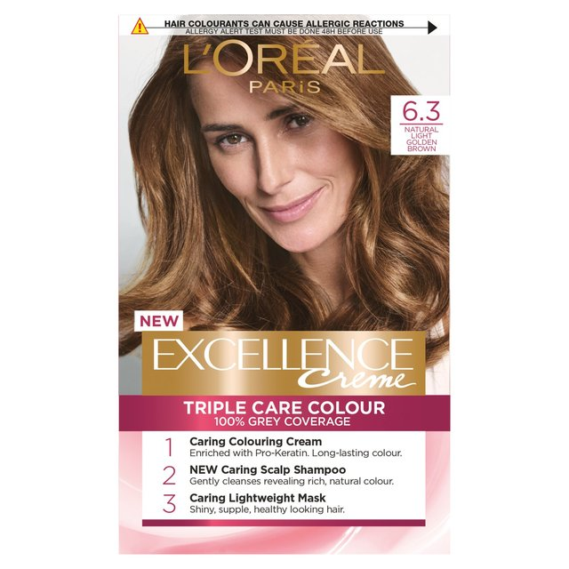 L'oreal Excellence Creme Light Golden Brown 6.3