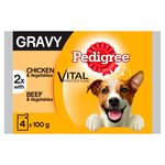 Pedigree Pouch Gravy Chicken, Vegetable & Beef