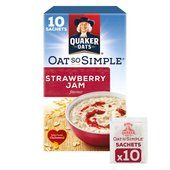 Quaker Oat So Simple Strawberry Jam Sachets