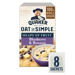 Quaker Oat So Simple Blueberry & Banana Porridge 8x34.8g