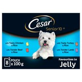 Cesar Pouch Senior 10+ Deliciously Fresh Selection in Jelly