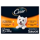 Cesar Pouch Deliciously Fresh Favourites in Sauce