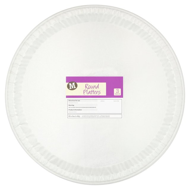 Morrisons Round Platters