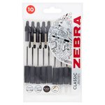 Zebra Z Grip Pen Black 10 Pack
