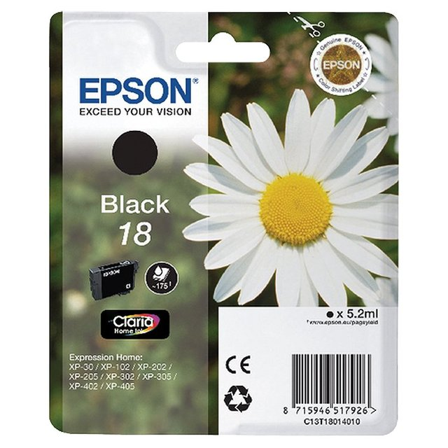 Epson C13T1801 Black Ink Cartridge Bb