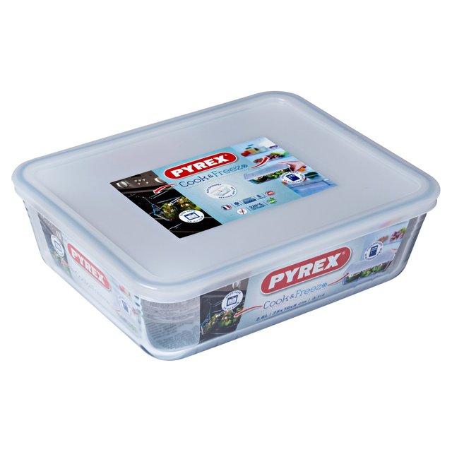 morrisons pyrex rectangular dish with lid 1 5 litre product information. Black Bedroom Furniture Sets. Home Design Ideas