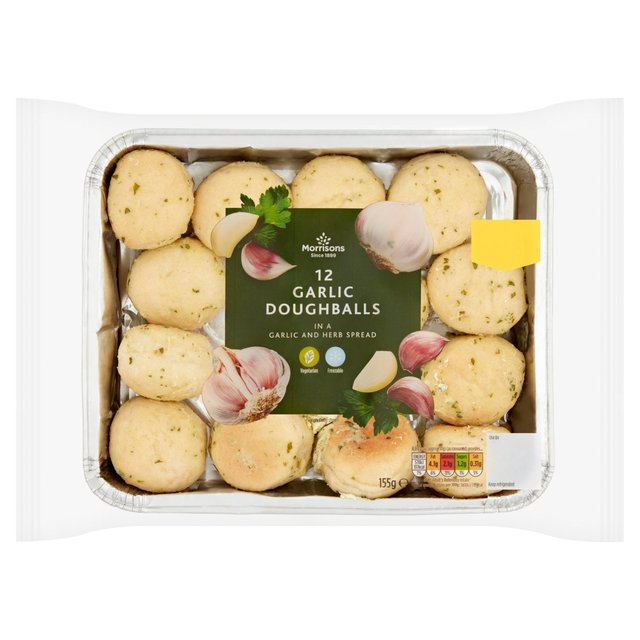 Morrisons 12 Garlic Dough Balls