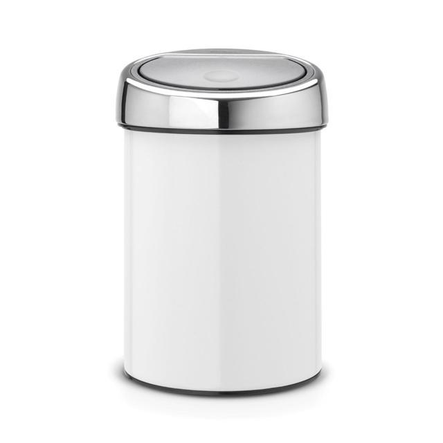 Brabantia Touch Bin, White 3L
