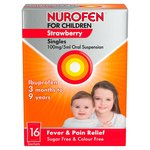 Nurofen for Children Strawberry Ibuprofen