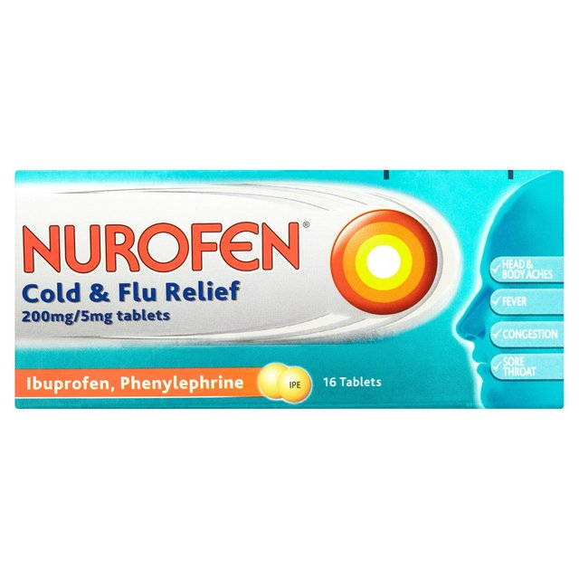 can you take cold and flu tablets and ibuprofen