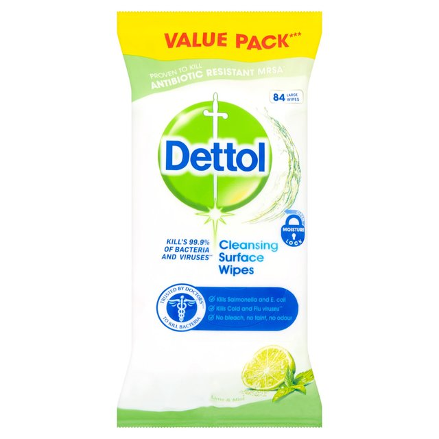 Dettol Antibacterial Surface Cleanser Wipes Lime & Mint