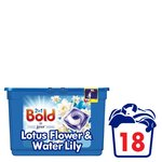 Bold 2in1 Pearls White Lily & Lotus Flower Washing Capsules 18 washes