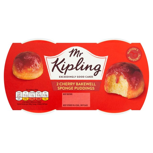 Mr Kipling Cherry Bakewell Sponge Pudding