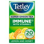 Tetley Super Green Vitamin C Lemon & Honey Tea 20s