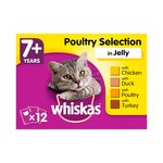 Whiskas Pouches 7+ Poultry In Jelly 12X100G