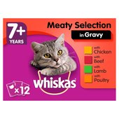 Whiskas Pouches  7+ Meat Selection in Gravy