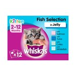 Whiskas Pouches  2/12 Month Fish In Jelly 12X100G