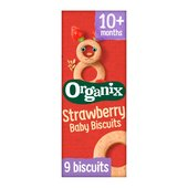 Organix Strawberry Organic Baby Snack Biscuits