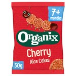 Organix Cherry Organic Baby Finger Food Rice Cakes
