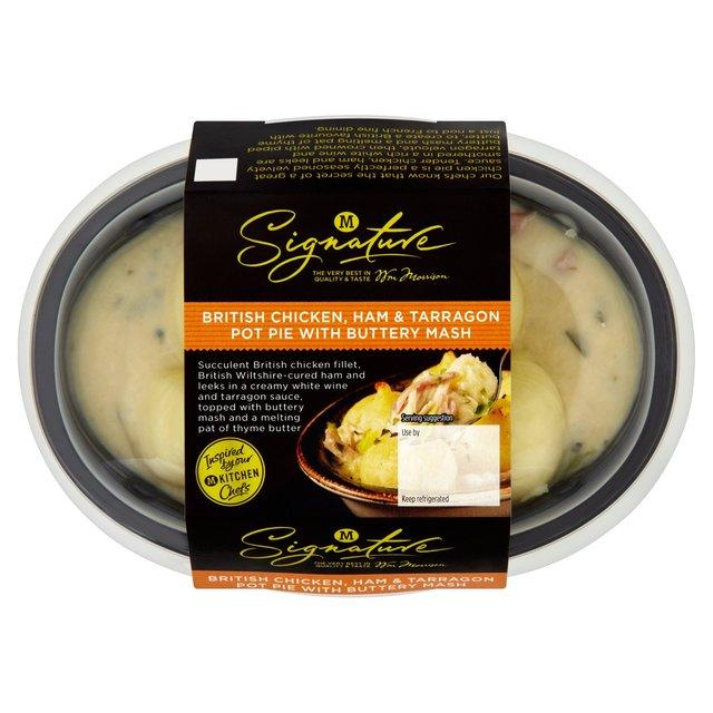 Morrisons: M Signature Chicken Ham & Tarragon Pie 400g(Product ...