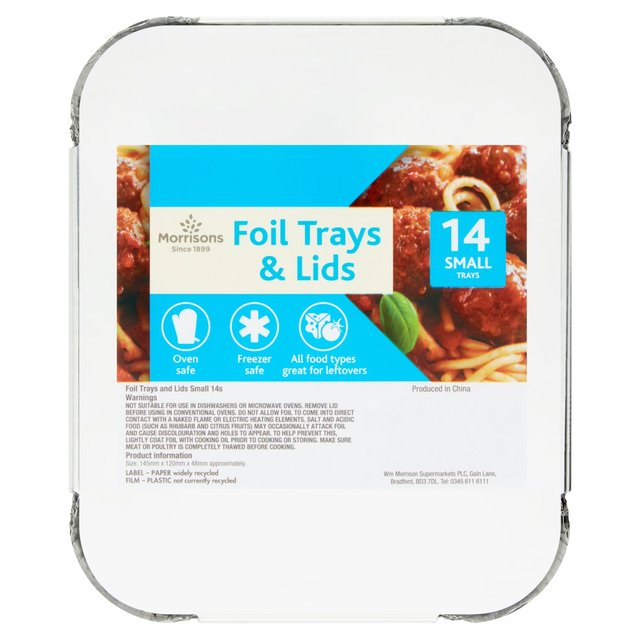 Morrisons Small Trays & Lids